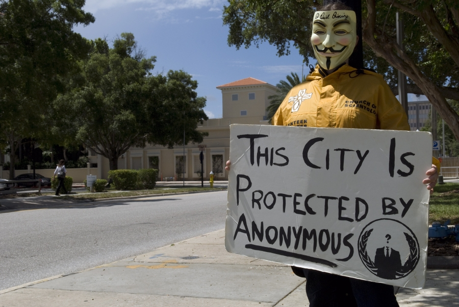 Az Anonymous hacker csoport